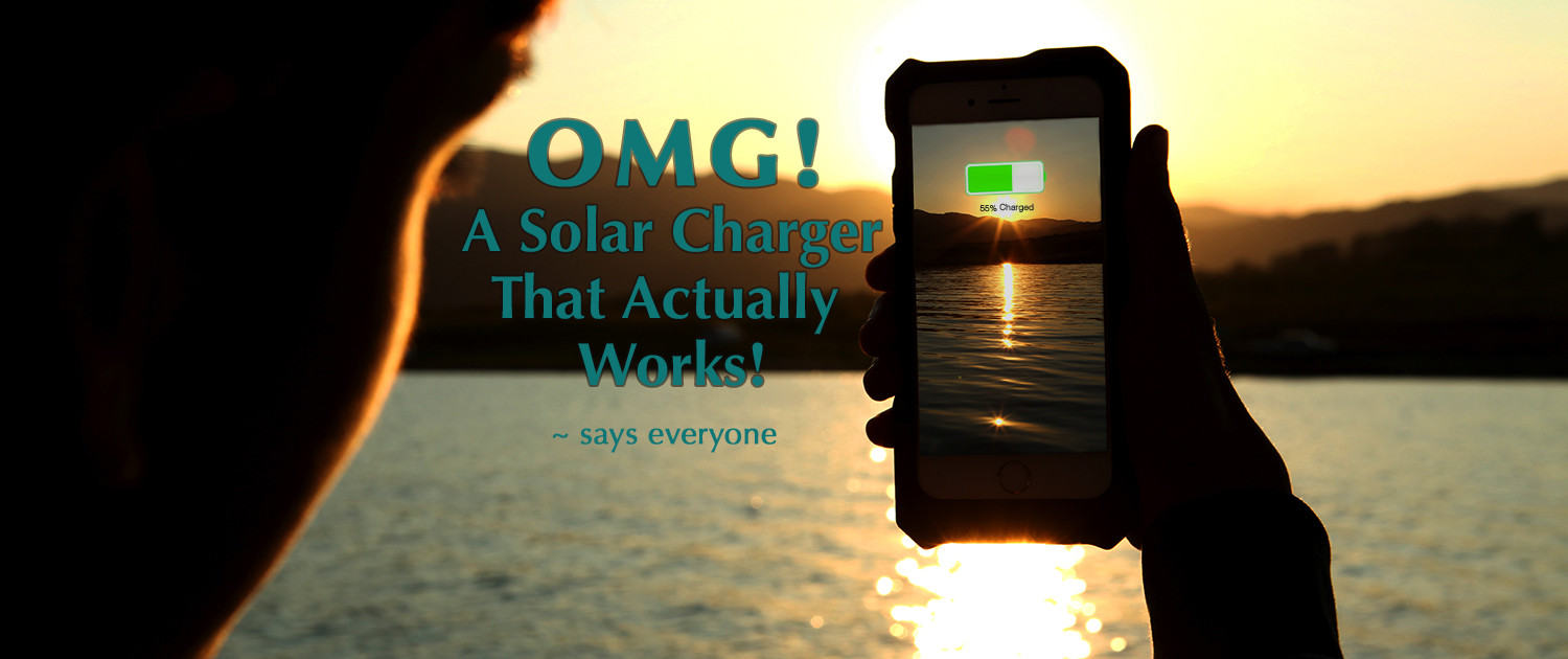 iPowerUp solar power charging case