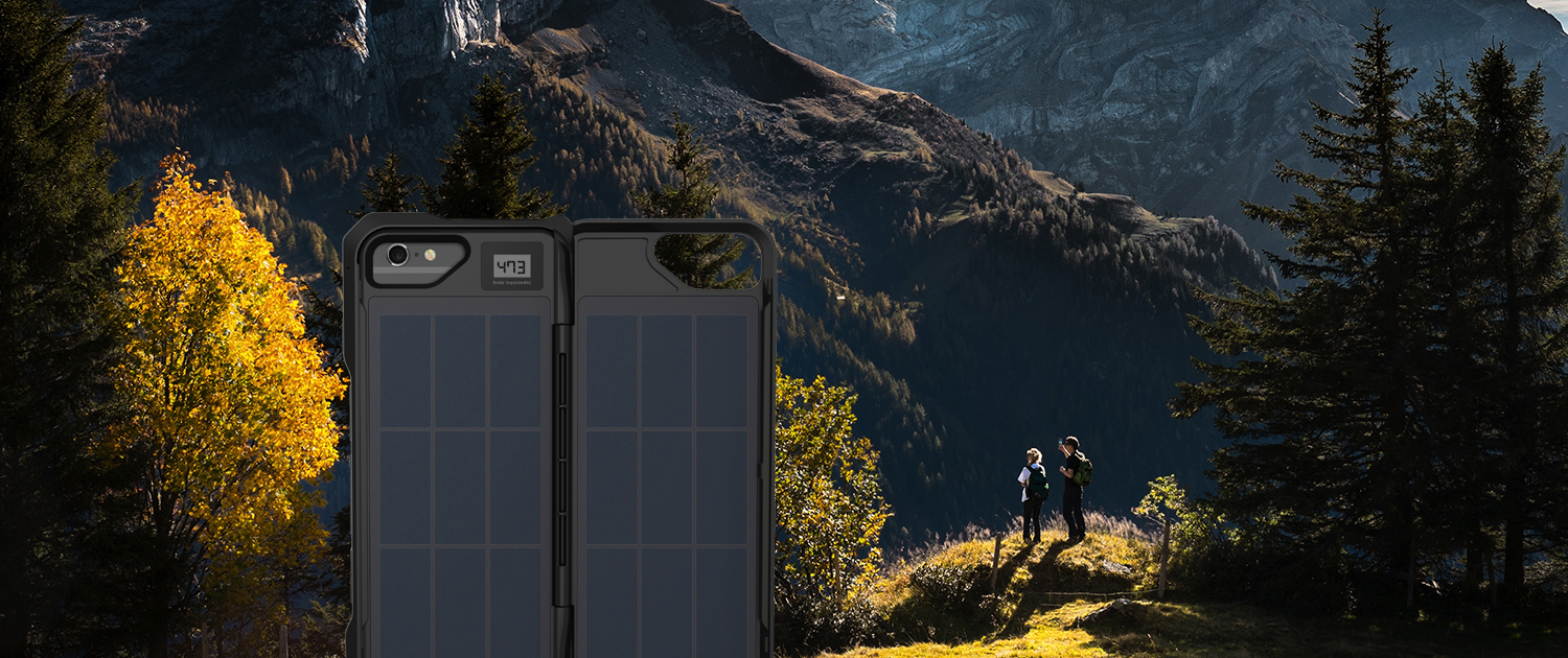 ipower up iPhone Fusion Solar charger hiking