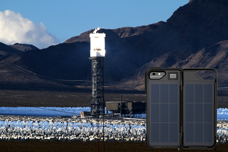 Vegas Solar Field with iphone Solar Case by iPower Up
